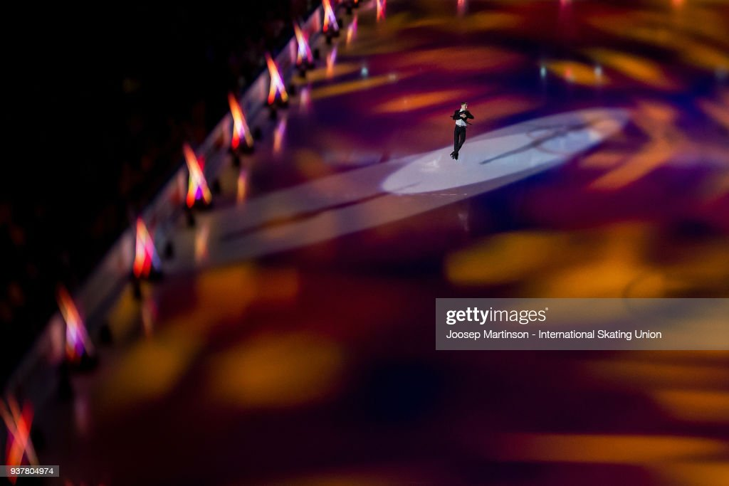 Matteo Rizzo of Italy performs in the Gala Exhibition during day five of the World Figure Skating Championships at Mediolanum Forum on March 25, 2018 in Milan, Italy.