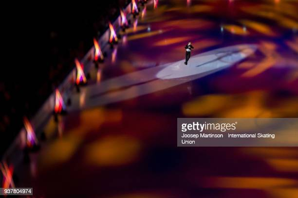 Matteo Rizzo of Italy performs in the Gala Exhibition during day five of the World Figure Skating Championships at Mediolanum Forum on March 25 2018...