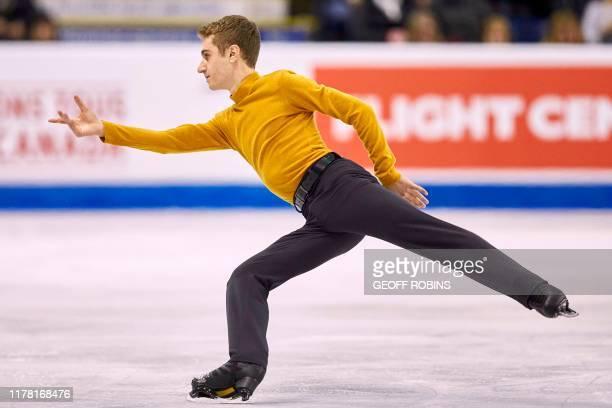Matteo Rizzo of Italy skates his short program at the 2019 Skate Canada International ISU Grand Prix event in Kelowna, BC on October 25, 2019.