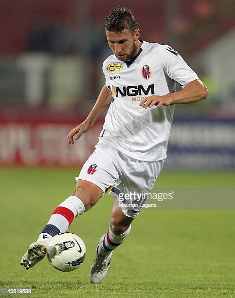 Matteo Rubin of Bologna during the Serie A match between Catania Calcio and Bologna FC at Stadio Angelo Massimino on May 2 2012 in Catania Italy
