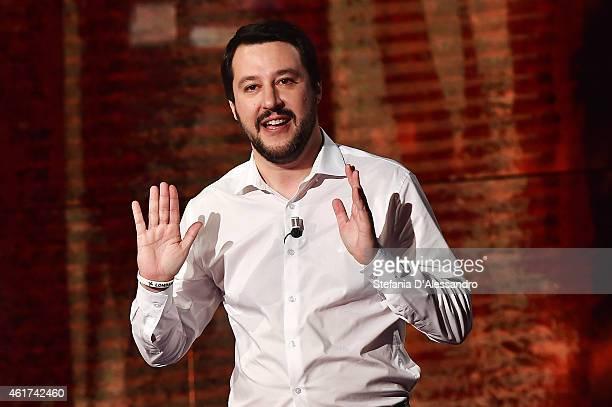 Matteo Salvini attends 'Che Tempo Che Fa' TV Show on January 18 2015 in Milan Italy