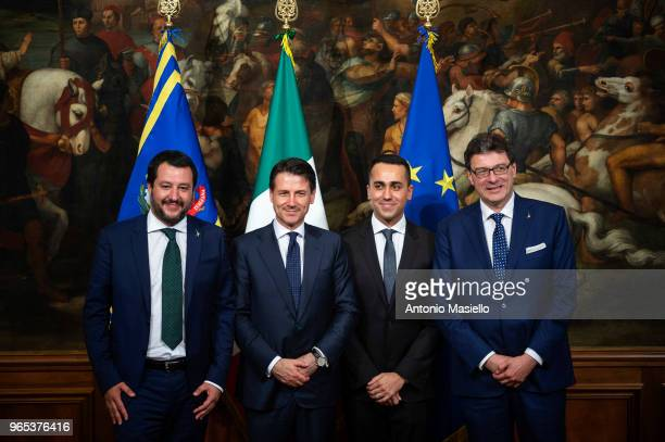 Matteo Salvini Deputy Prime Minister and Italian Interior minister Italian Prime Minister Giuseppe Conte Luigi Di Maio Deputy Prime Minister and...