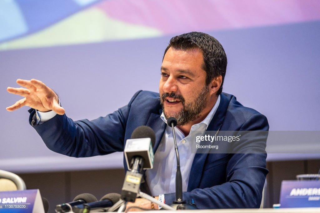 Italy's Deputy PM Salvini Launches EU Election Campaign : News Photo