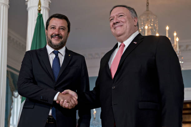 DC: Secretary Pompeo Meets Italian Deputy Prime Minister Matteo Salvin At State Department