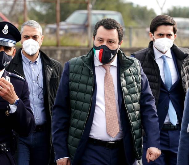 """ITA: Matteo Salvini in Catania for the """"Gregoretti"""" trial"""