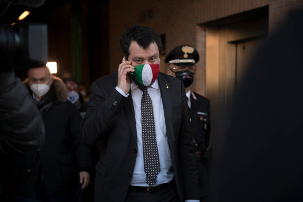 ITA: Matteo Salvini At Trial For Insult To The Magistrates