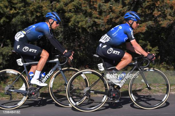 Matteo Sobrero of Italy and Team NTT Pro Cycling / Domenico Pozzovivo of Italy and Team NTT Pro Cycling / during the 5th Tour de La Provence 2020...