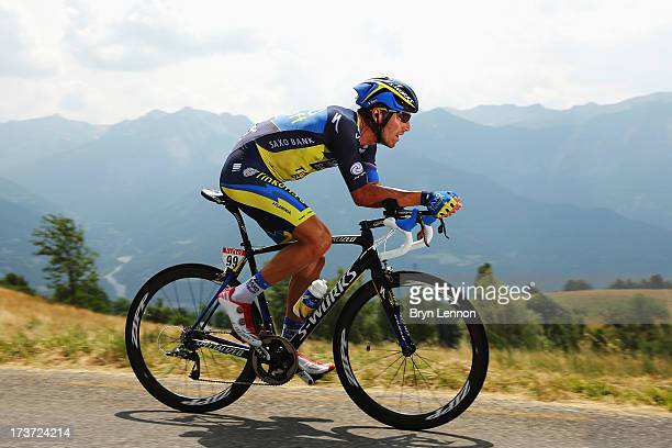 Matteo Tosatto of Italy and Team Saxo-Tinkoff rides during stage seventeen of the 2013 Tour de France, a 32KM Individual Time Trial from Embrun to...