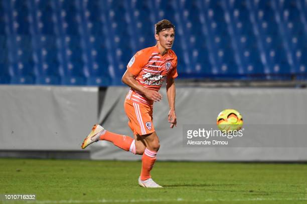 Matteo Tramoni of Ajaccio during the French Ligue 2 match between Beziers and AC Ajaccio at Stade de la Mediterranée on August 3 2018 in Beziers...