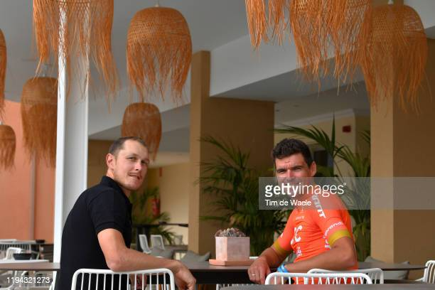 Matteo Trentin of Italy and CCC Team / Greg Van Avermaet of Belgium and CCC Team / during the Team CCC 2020, Media Day / @CCCProTeam / on December...