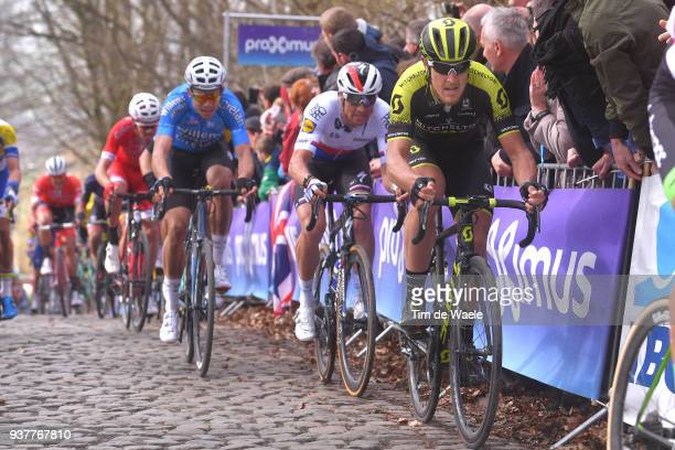 Matteo Trentin of Italy and Team Michelton Scott / during the 80th Gent-Wevelgem In Flanders Fields 2018 a 250,8km race from Deinze to Wevelgem on...