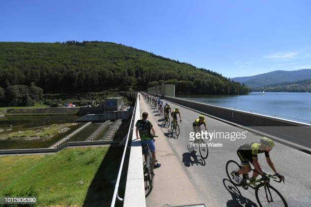 Matteo Trentin of Italy and Team Mitchelton Scott / Carlos Verona Quintanilla of Spain and Team Mitchelton Scott / Jezioro Miedzybrodzkie Lake /...