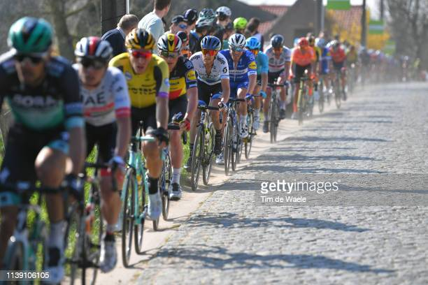 Matteo Trentin of Italy and Team Mitchelton Scott / Cobblestones / Peloton / during the 62nd E3 Harelbeke 2019 a 203,9km race from Harelbeke to...
