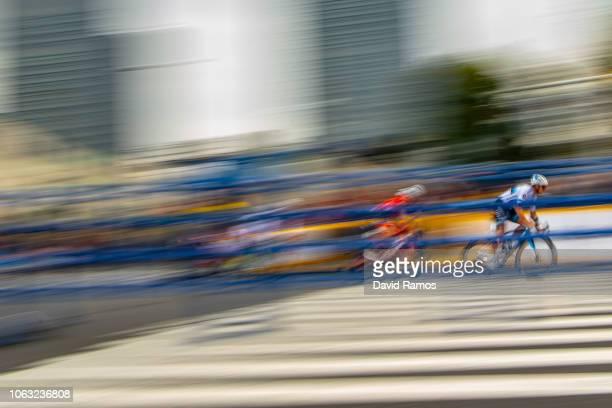 Matteo Trentin of Italy and Team Mitchelton Scott leads his Sprint Race Qualifying Round during the 6th Tour de France Saitama Criterium 2018 a...