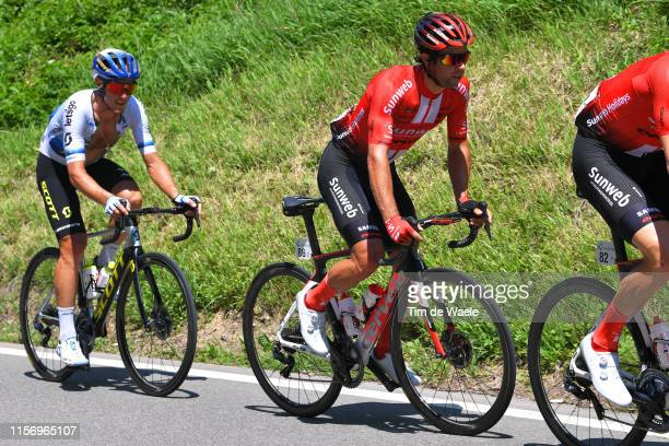 Matteo Trentin of Italy and Team Mitchelton Scott / Michael Matthews of Australia and Team Sunweb / during the 83rd Tour of Switzerland Stage 5 a...