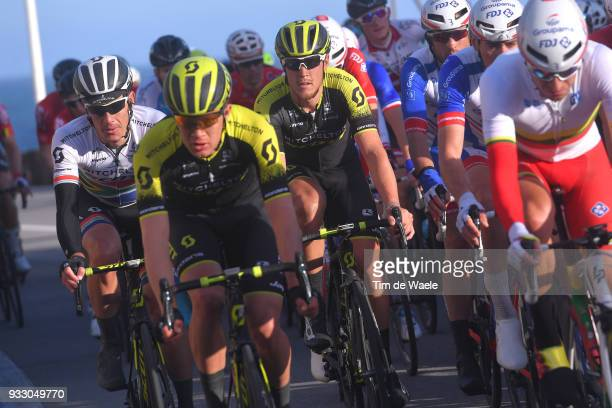 Matteo Trentin of Italy and Team MitcheltonScott / Daryl Impey of South Africa and Team MitcheltonScott / during the 109th MilanSanremo 2018 a 291km...