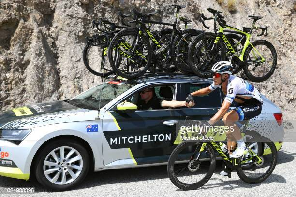 Matteo Trentin of Italy and Team Mitchelton-Scott European Champion Jersey / Feed Zone / Car / during the 73rd Tour of Spain 2018, Stage 5 a 188,7km...