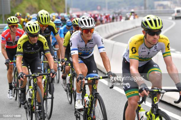 Matteo Trentin of Italy and Team Mitchelton-Scott / Michael Albasini of Switzerland and Team Mitchelton-Scott / during the 73rd Tour of Spain 2018,...