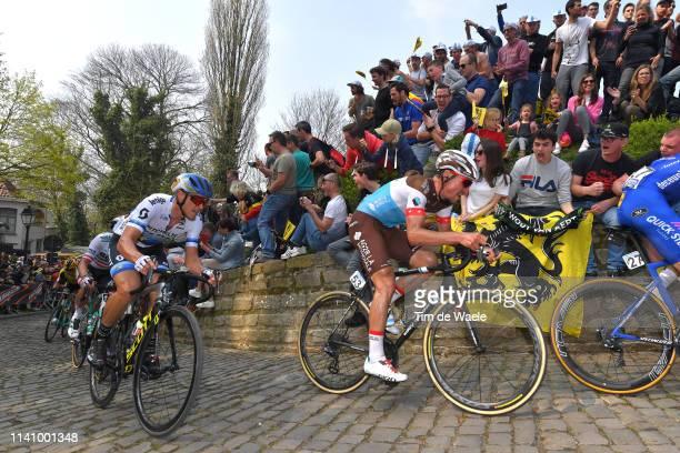 Matteo Trentin of Italy and Team Mitchelton-Scott / Silvan Dillier of Switzerland and Team Ag2R La Mondiale / De Muur van Geraardsbergen /...