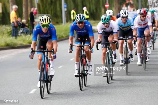 Matteo Trentin of Italy / Davide Cimolai of Italy / Erik Baska of Slovakia / Yves Lampaert of Belgium / during the 25th UEC Road European...