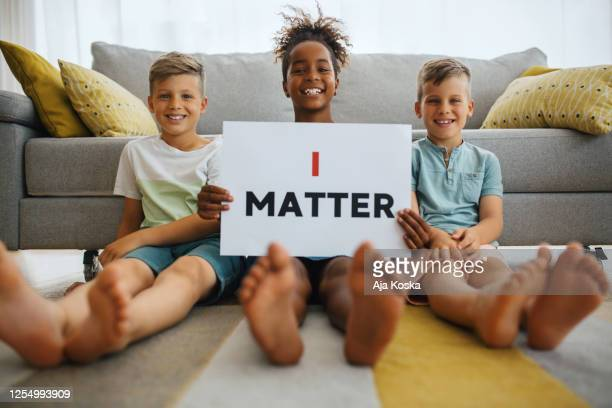 i matter. - social justice concept stock pictures, royalty-free photos & images