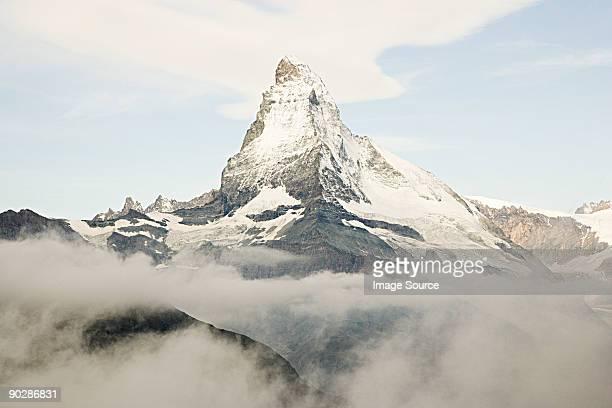 Matterhorn and cloudy sky