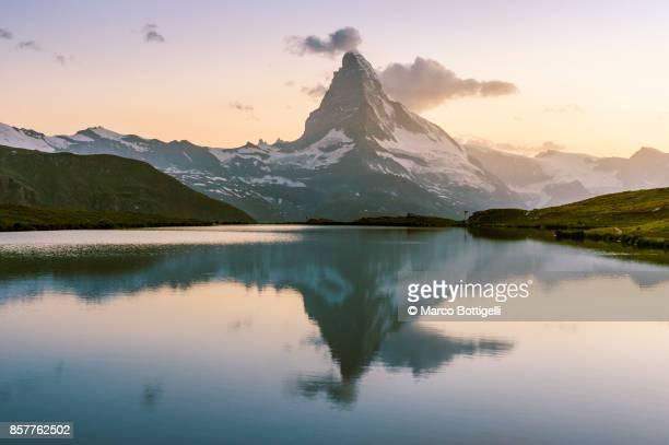 Matterhorn and Stellisee. Zermatt, Switzerland.
