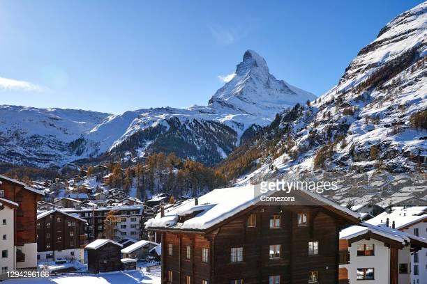 matterhorn and zermatt, switzerland - switzerland stock pictures, royalty-free photos & images