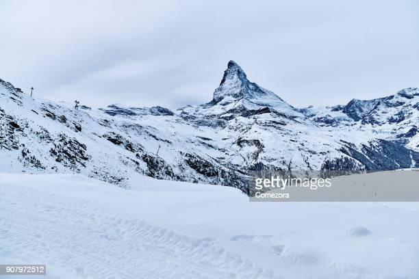 Matterhorn at Winter, Swiss Alps, Switzerland