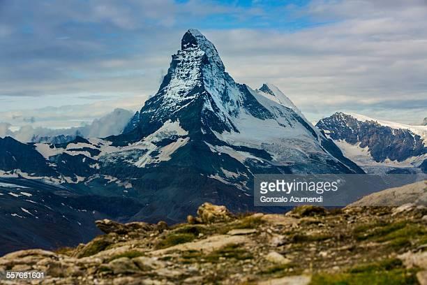 Matterhorn or Cervino mountain in Zermatt