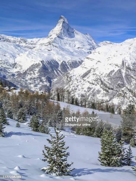 Matterhorn, Sunnegga alp, Valais, Switzerland, Sunnegga Alm, Wallis, Switzerland.