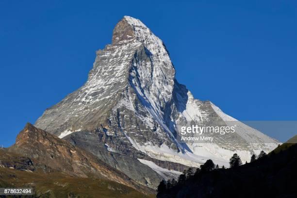 Matterhorn with blue sky. Zermatt, Switzerland.