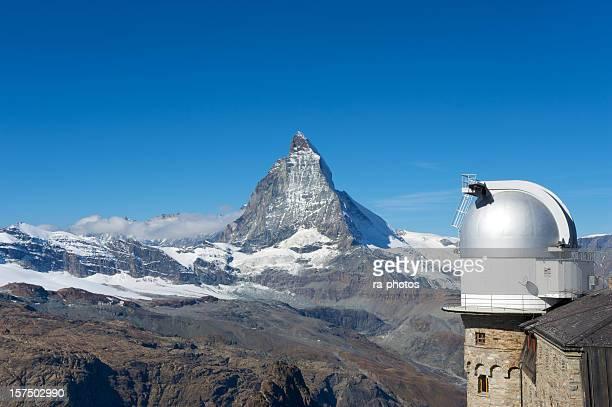 Matterhorn with the Gornergrat Observatory, Switzerland
