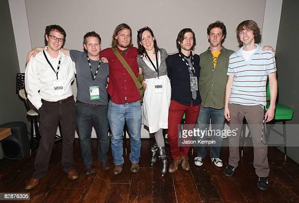 Matteson Perry, Jessie Allen, Benjamin Bates, Sarah Arlen, Andrew Gori, Todd Rohal and Craig Morehead attend the Independent Film Week - Emerging...