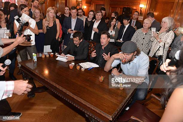 Mattew Nolan JT Snow and Robin Lopez judge The Snowman Classic To Raise Money To Find A Cure For The Worst Form Of Diabetes at Hamlin Mansion on June...
