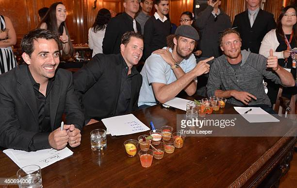 Mattew Nolan JT Snow Robin Lopez and Hunter Pence Judges The Snowman Classic To Raise Money To Find A Cure For The Worst Form Of Diabetes at Hamlin...