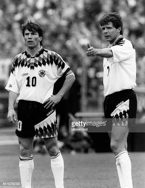 Matthaeus Lothar *Fussballspieler DSpieler der Nationalelf von 19802000Weltmeister 1990 mit Andreas Moeller von Borussia Dortmund Oktober 1994