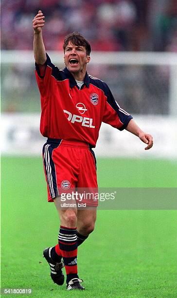 Matthaeus, Lothar *-Fussballspieler, DSpieler der Nationalelf von 1980-2000Weltmeister 1990- Ganzkoerperaufnahme, im Trikot des FC Bayern Muenchen