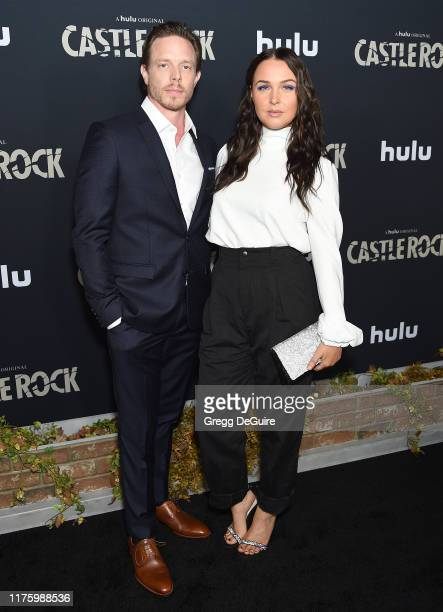 Matthew Alan and Camilla Luddington attend the Premiere Of Hulu's Castle Rock Season 2 at AMC Sunset 5 on October 14 2019 in Los Angeles California
