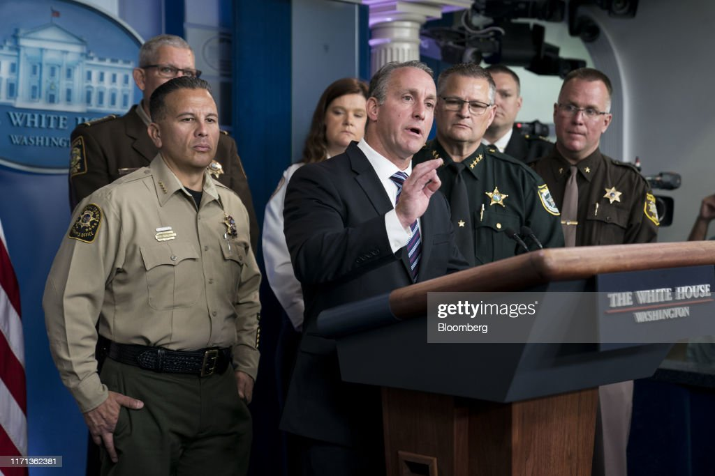 Press Briefing With Acting Director Of U.S. Immigration And Customs Enforcement Matthew Albence : News Photo