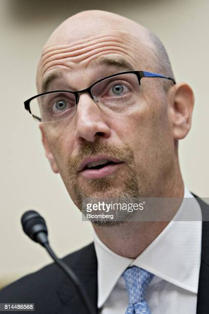 Matthew Andresen founder and cochief executive officer of Headlands Technologies LLC speaks during a House Financial Services Subcommittee hearing in...