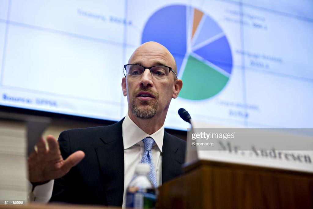 Matthew Andresen, founder and co-chief executive officer of Headlands Technologies LLC, speaks during a House Financial Services Subcommittee hearing in Washington, D.C., U.S., on Friday, July 14, 2017. The hearing is entitled A Review of Fixed Income Market Structure. Photographer: Andrew Harrer/Bloomberg via Getty Images