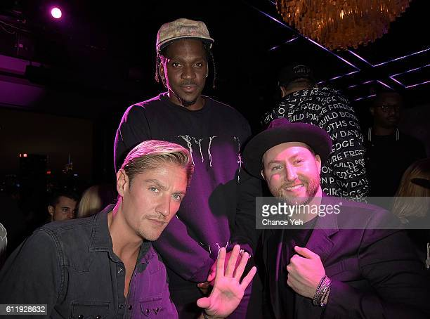 Matthew Assante Pusha T and Dustin Terry attend Sunset Saturdays 5 year anniversary celebration at PHD at the Dream Hotel Downtown on October 1 2016...