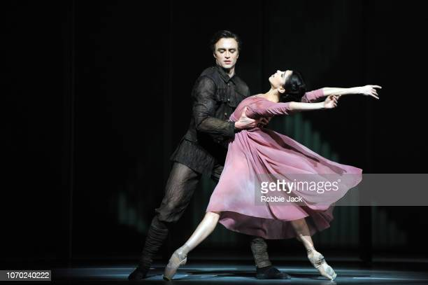 Matthew Ball and Yasmine Naghdi in The Royal Ballet'u2019s production of Alastair Marriott'u2019s The Unknown Soldier at The Royal Opera House on...