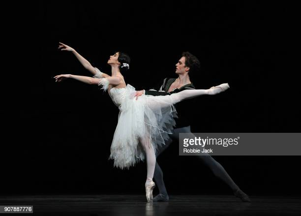 Matthew Ball as Albrecht and Yasmine Naghdi as Giselle in the Royal Ballet's production of Peter Wright's adaptation of Marius Petipa's Giselle at...