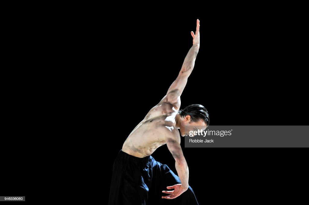 Matthew Ball in the Royal Ballet's production of Wayne McGregor's Obsidian Tear at The Royal Opera House on April 13, 2018 in London, England.