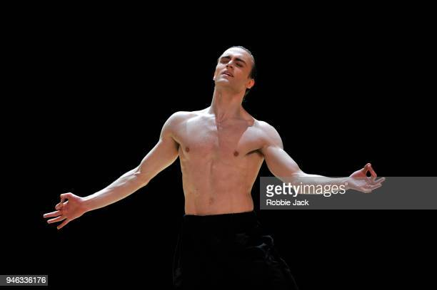 Matthew Ball in the Royal Ballet's production of Wayne McGregor's Obsidian Tear at The Royal Opera House on April 13 2018 in London England