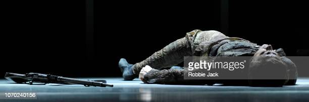 Matthew Ball in The Royal Ballet'u2019s production of Alastair Marriott'u2019s The Unknown Soldier at The Royal Opera House on November 19 2018 in...