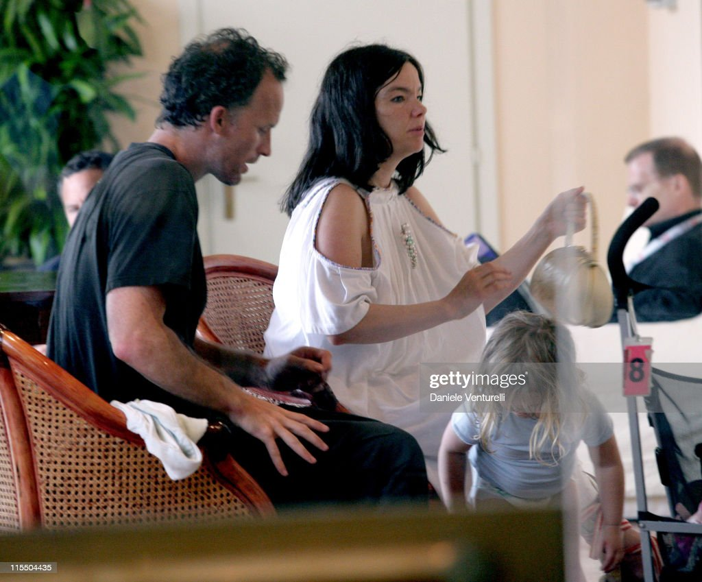 Matthew Barney, Bjork and daughter Isadora during 2005 Venice Film