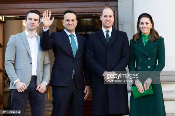 Matthew Barrett, Taoiseach of Ireland Leo Varadkar, Prince William, Duke of Cambridge and Catherine, Duchess of Cambridge pose during an Official...